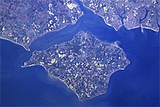 Isle of Wight from space (Courtesy NASA)