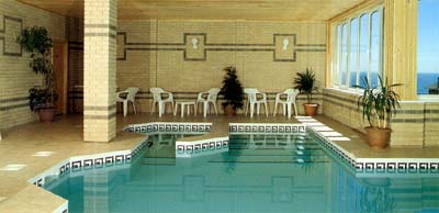 The pool at Channel View Hotel, Shanklin, Isle of Wight